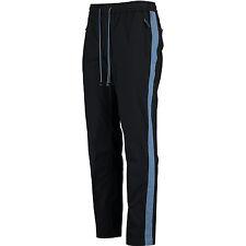 Dolce & Gabbana Azul Cuero Recortado Pantalones Deportivos Pantalones IT48 W32 no Jeans