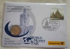 2 € Gedenkmünze Numisbrief 2018 F J A Serie Bundesländer BERLIN World Money Fair