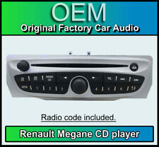 Renault Megane 3 III CD MP3 Player, Renault 7649189391 estéreo de coche + código de radio