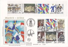 Enveloppe grand format 1er jour 1994 GF Soie France Suède Relations Culturelles