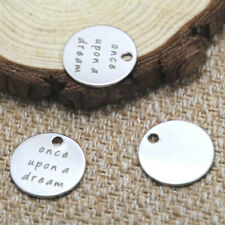 10pcs once upon a dream charm silver tone message charm pendant 20mm