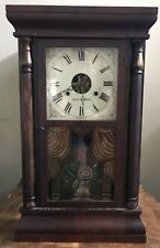 Seth Thomas Ogee Box Clock, 30 hour, Mahagony Case, Nice Design