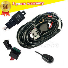 12V 40A LED Work Light Bar Wiring Harness Kit ON/OFF Switch Relay Fuse Cable Kit