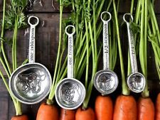 Crosby and Taylor Pewter Farm to Table Measuring Spoons Set of 4 New