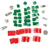 Monopoly Replacement Pieces Tokens Vintage 1961 Dog Horse Car Hotels Houses red