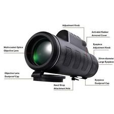 Wide-angle HD35x50 Monoculars for cell phone camera telescope with holder Black