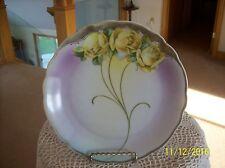 Porzellanfabrik Moschendorf PM Porcelain Antique Bavaria Yellow Rose Plate