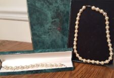 Faux Pearl and CZ Necklace and Bracelet by the Suzanne Somers Collection