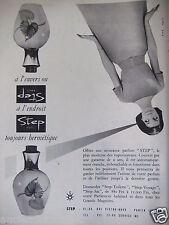 PUBLICITÉ 1959 PARFUM STEP HERMÉTIQUE A L'ENVERS OU A L'ENDROIT  - ADVERTISING