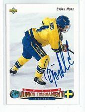 Bjorn Nord Signed 1992/93 Upper Deck Card #231