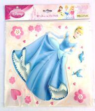 Decorazione muro 11 adesivi 3D Principesse Disney Brilla al buio 70412 bambin...