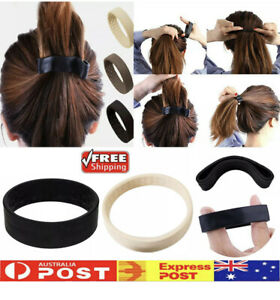( Upto 3pcs ) Foldable One Wide Pony Band Clip Pony Hair Band O-Tie Band Fashion