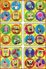 Spongebob Dots Stickers x 24 (6 sheets) - Favours - Preschool - Reward Charts