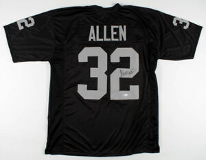 Marcus Allen Signed Oakland Raiders Jersey (Beckett COA)  SB XVIII MVP  /  R.B.