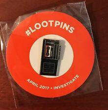 Loot Crate Exclusive Tape Recorder Loot Pin (April 2017 Investigate)