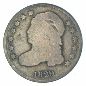 EARLY - 1829 - Capped Bust Dime - Eagle Reverse - TOUGH - US Type Coin *461