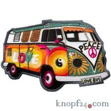 Applikation zum Aufbügeln Hippie-Bus (#74479)