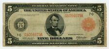 1914 Fr.838a $5 United States (Chicago, Illinois) Federal Reserve Note