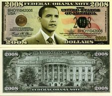 President Barack Obama 2008 & 2013 Commemorative Dollar Bills (2)