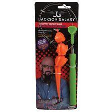 New listing Jackson Galaxy Plastic Ground Wand with Iguana Cat Toy - Multi