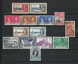 Bermuda 1935-53 Sc#100//142  Jubilee/Coronation/Peace/Wedding/UPU  Used MH $19