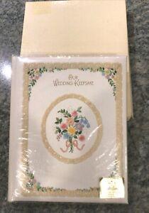 Vintage 1980  HALLMARK Wedding Keepsake Record Guest Book Album Preowned