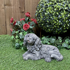 More details for stone cast small laying king charles spaniel ornament