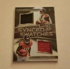 2018 Panini Spectra Synced Swatches Matt Ryan/Calvin Ridley #'d 58/99 Falcons