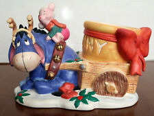 Disney 1995 Christmas at our House Eeyore and Piglet Candleholder Figurine