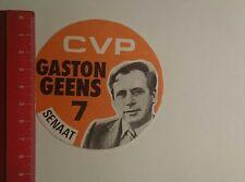 Aufkleber/Sticker: CVP Gaston Geens 7 Senaat (22011774)