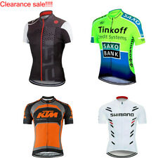 Mens Cycling Jersey Short Sleeve Bicycle Jersey Team Racing Bike Shirt Pockets