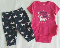Baby girls clothes Newborn Carter's 2 pc  set new with tags
