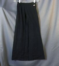 NEW OBS FASHION Studio Dance Spandex Waist Pants Black Womens Sz  3A LOOSE 24x31