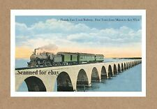 FL KEY WEST  FIRST FLORIDA EAST COAST FEC RAILWAY TRAIN FROM MIAMI DEPOT STATION