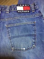 Vintage Tommy Hilfiger Flag Jeans Sz 34 Inseam 32.5 Spell Out Light Wash