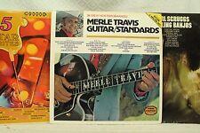 lot lp records Earl Scruggs Dueling Banjos Merle Travis Guitar Standards Golden