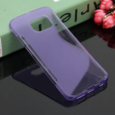 HOUSSE ETUI COQUE SILICONE GEL VIOLET SAMSUNG GALAXY S6 EDGE