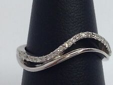 10K WHITE GOLD DIAMOND BAND/THUMB RING
