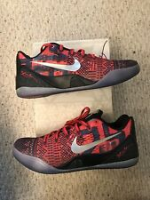 Nike Kobe 9 IX Low EM Premium Philippines Laser Crimson Sz 10 669630-604  RARE 4b24f44b6