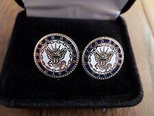 U.S Military Navy Cufflinks With Jewelry Box 1 Set Cuff Links Boxed