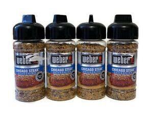 Weber Chicago Steak Seasoning (4 Pack) Best by 2024 2.50 oz Each Gluten Free
