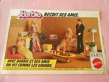 Pub Barbie recoit ses amis jouet Mattel Image Print 1977
