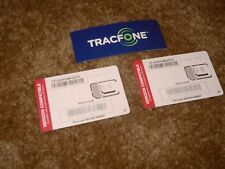 2 Standard, Nano or Micro Sim Cards For use with Verizon Compatible Phones Byop