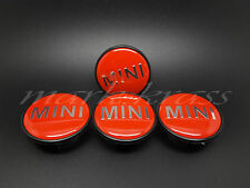 SET4x54mm Mini Cooper Union Jack Wheel Alloy Center Caps Emblem  R50 R52 R53 R57