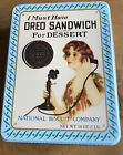"""Nabisco National Biscuit Company """"I Must Have Oreo Sandwich For Dessert"""" Tin! $$"""