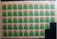 1951  XIV° CAMPAGNA  ANTITUBERCOLARE - blocco di  47   valori