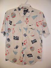"VOLCOM Men's S/S Button-Up Shirt ""Hoot"" - SIB - Size Large - NWT - Reg $70"