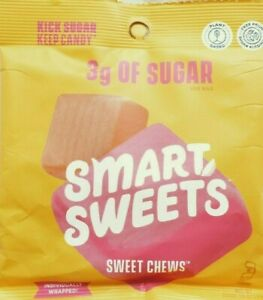 SMART SWEET~ Sweet Chews~ 3g Sugar~ 22 Pack Lot~ BB 9/2021