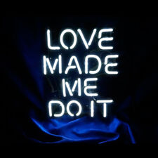 Love Made Me Do It Neon Sign Light Store Display Beer Bar Sign 8.7''X10.2&#039 ;' Tn46