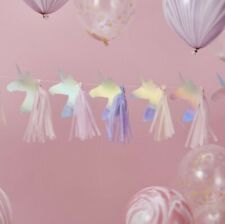 🦄UNICORN Iridescent Shimmer Pretty Tail Birthday Celebration Party Garland 3m🦄
